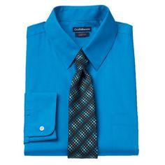 Croft & Barrow® Classic-Fit Dress Shirt & Tie Boxed Set - Men $24.99