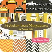 Aviator Les Monsieurs Fat Quarter Bundle Tamara Kate for Michael Miller Fabrics