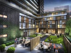 Dine al fresco in this very green space located just off the party rooms. At 101 Erskine condos, in Toronto, near Yonge and Eglinton.