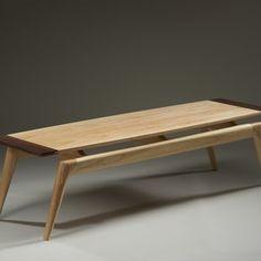 Ash And Walnut Coffee Table by Benjamin Rosenberg