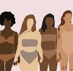 Black Women Art, Black Art, Graphic Design Illustration, Digital Illustration, Feminist Art, Body Love, Aesthetic Art, Cute Wallpapers, Female Art