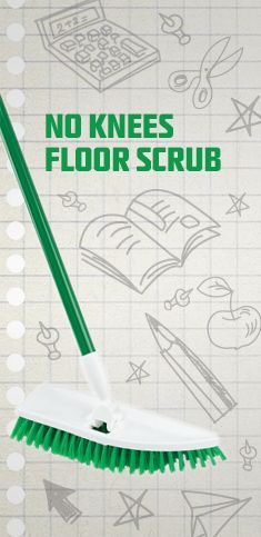 No Knees Floor Scrub  Yes please!! No more nasty behind the toilets and on my knees in the kitchen cleaning ~ this is a fantastic invention!