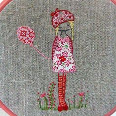 daisy girl embroidery by lili_popo, via Flickr