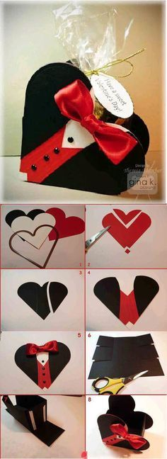 I found this cute See's Candies gift box , while browsing the local See's Candies store. Saint Valentine, Valentines, Diy And Crafts, Paper Crafts, Karten Diy, Fathers Day Crafts, Punch Art, Folded Cards, Diy Cards