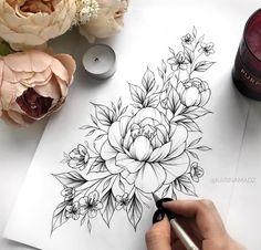 Loose flowers ☀️🌸 Recording is in May … – Tattoo Aesthetics 13 Tattoos, Skull Tattoos, Mini Tattoos, Rose Tattoos, Flower Tattoos, Body Art Tattoos, Tribal Tattoos, Sleeve Tattoos, Floral Tattoo Design