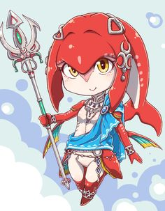 Mipha! One of my favorite characters in the new zelda: breath of the wild!
