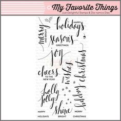 My Favorite Things Clear Stamp - Hand Lettered Holiday