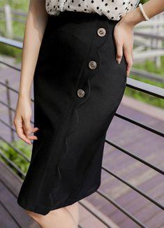 Styleonme_Scallop Wrap Gold Button Pencil Skirt . . #styleonme_global #fashion #instagood #picoftheday #photooftheday #style #ootd #mixandmatch #shopping #instadaily #instafashion #selfie #fashionstagram #kstyle #kfashion #koreanlook #koreandaily #koreanfashion #kbeauty #followme #like4like #dailylook #styleonme #classy #koreanfashion #fashionkorea #ontrend #newarrivals #transitionalclothing #kdramafashion #ss21 #pencilskirt #blackskirt #midiskirt #wrapskirt #hlineskirt #summerskirt… Korean Look, K Beauty, Summer Skirts, Korean Women, Daily Look, Office Wear, Mix N Match, Korean Fashion, Midi Skirt