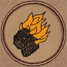 Flaming Pinecones Patrol Patch (#141)