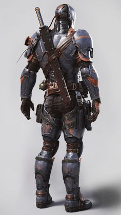 DeathStroke Arkham Origins by JPGraphic Deadpool Deathstroke, Deathstroke Cosplay, Deathstroke The Terminator, Deadshot, Comic Character, Game Character, Marvel Dc, Dc Comics, Armadura Cosplay