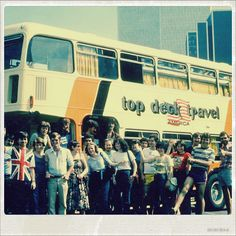 Topdeck in the USA way back in the 1980s