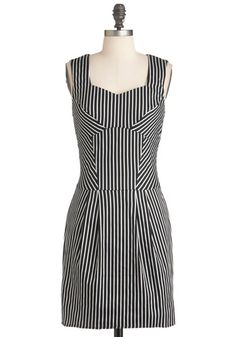30. Reciting Lines Dress. Nerves cant get the best of you when you step onstage in this black- and white-striped sheath!  #modcloth