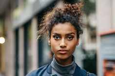 Top model Imaan Hammam is styled by Camilla Nickerson in 'Blooming Anew', lensed by Tyler Mitchell for Vogue US September Curly Hair Styles, Natural Hair Styles, Valentino, Normal Body, Vogue Spain, Reality Tv Stars, Vogue Us, Famous Models, Milan Fashion Weeks