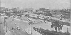 Uma foto que mostra como o era a região hoje conhecida como trevo das Forças Armadas, mas na época dessa foto a região era conhecida apenas como Ponte dos Marinheiros. Viaduto dos Marinheiros, primeira metade dos anos 60