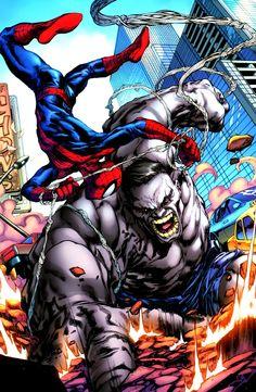 Ultimate Hulk vs Spider-Man by Carlo Pagulayan