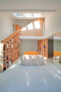 Bookshelf House, Paris, 2016 - Andrea Mosca Creative Studio