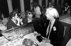 Mick Jagger and Andy Warhol awesome people hanging out together