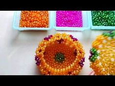 How to bead funny acceceroy: pumpkin box Seed Bead Crafts, Beaded Crafts, Beaded Ornaments, Beading Projects, Beading Tutorials, Beading Patterns, Bead Bowl, Beaded Boxes, Tatting Jewelry