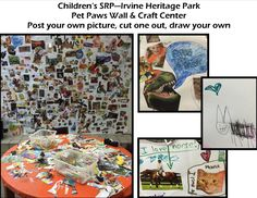 """Check out the Pet Paws Wall during Summer Reading Program 2014 """"Paws to Read!"""" at Irvine Heritage Park Library."""