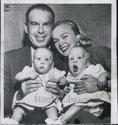 June Haver McMurry Twin Girls | 1956 Press Photo Actor Fred MacMurray & Wife/Actress June ...