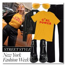 """""""NYFW Street Style Trend"""" by codilocks ❤ liked on Polyvore featuring M.i.h Jeans, Yves Saint Laurent, Zara and Prada"""