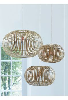 Bamboo Pendant Lightshades - Decorative Home - Indoor Living