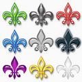 Assorted Fleur-de-Lis Designs Royalty Free Stock Photography