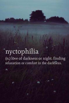 Love of darkness