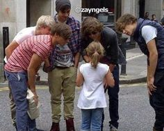 One Direction with fan