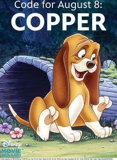 Things are really heating up with the Disney Movie Rewards Dog Days of Summer Sweepstakes. Enter for a chance to win a drool-worthy shopping spree for you and your furry best friend.  Enter the sweepstakes and get a new code each week to unlock additional entries or points. Click the image to get details.  This week's code is: COPPER