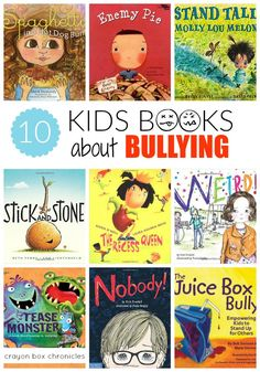 Kids Books About Bullying Books about bullying for young children by Crayon Box Chronicles.Books about bullying for young children by Crayon Box Chronicles. Kids Reading, Teaching Reading, Teaching Kids, Teaching Schools, Reading Nook, Guided Reading, Effects Of Bullying, Books About Bullying, Crayon Box