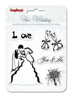 Transparentní razítka / Wedding / You & Me You And I, Card Making, Cards, Wedding Stamps, Scrapbooking, Album, Flowers, Love Sick, Drawings