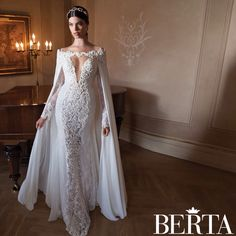Strictly Weddings is giving you a chance to fully absorb the beauty of Berta Bridal 2015 couture bridal gowns with a two-part series. 2015 Wedding Dresses, Bridal Dresses, Romantic Dresses, Wedding Pics, Wedding Stuff, Wedding Ideas, Fitted Wedding Gown, Dress Wedding, Wedding Bride