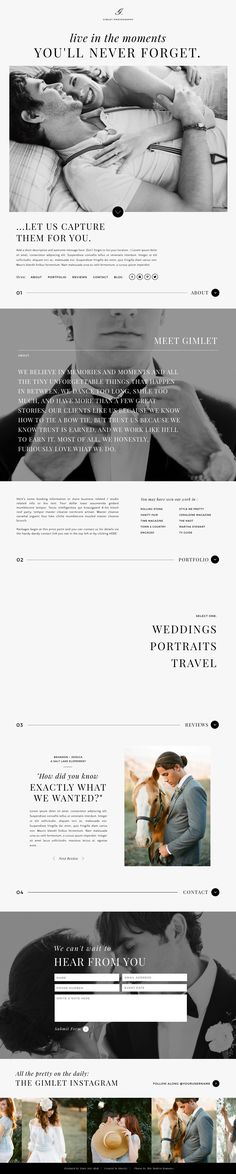 Gimlet - Showit Free Photography Website Template