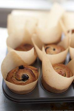 Blueberry brioche rolls.