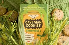 Caveman Cookies Packaging Got a Grooming by Kristina Filler #movember trendhunter.com