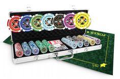 Pack de poker mallette Ultimate Poker Chips 500 jetons et tapis vert Texas Poker, Poker Chips, Packing, Amazon, Sports, Green Mat, Gaming Rules, Board Games, Plastic Art