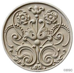 Circle Rosette #5486F   6  3/8 Diameter by Decorators Supply, Chicago, Il.