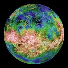 🐬Venus - Venus, the second planet from the sun and the closest planet to Earth. It is the brightest planet in our solar system. From: Planets for Kids Venus Images, Cosmos, Venus Facts, Solar System Pictures, Planeta Venus, Planet Pictures, Night Skies, Meteorology, Norse Mythology