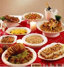Resultado de imagem para mesa de frutas para festa de natal