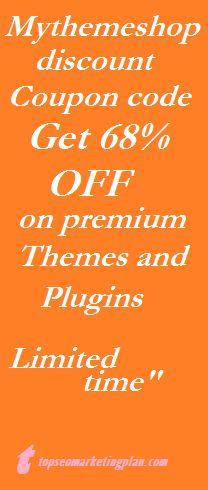 use my custom mythemeshop Coupon code and get 68% discount. mythemeshop best premium wordpress themes and plugins. http://mythemesstore.com/