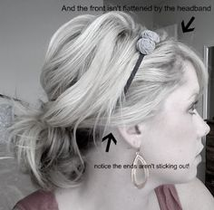 The Small Things Blog: How to Wear a Headband with a Ponytail (In an actually cute way!)