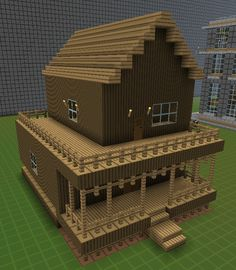 Small Log Cabin Minecraft House If someone want to master woodworking techniques, look at http://www.woodesigner.net