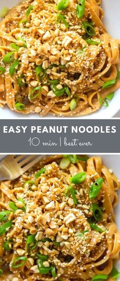 How to make The Best Easy Peanut Noodles! Use my Best Ever Thai Peanut Sauce with a simple trick to make these quick peanut noodles.