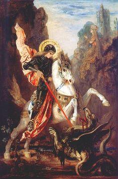 St Georges et le dragon - Gustave Moreau (1889)