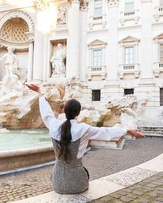 Fontana Di Trevi-Roma, for outfit visit my IG page