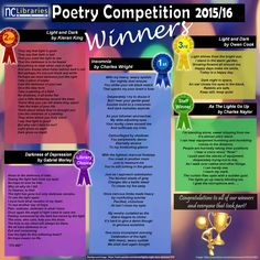 Here are the winning poems from this year's Poetry Competition