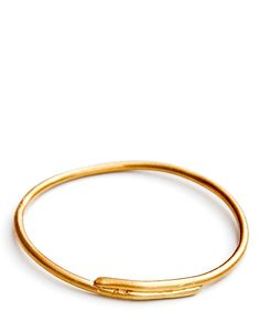 brass overlap bangle / $60