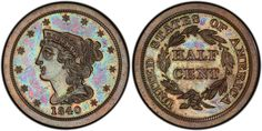 The designer was Christian Gobrecht for PCGS Visit to see edge, weight, diameter, auction records, price guide values and more for this coin. Proof Coins, Auction, The Originals, Coining, Countries