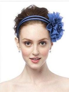 Cornflower Chiffon Flower Pin/Headpiece